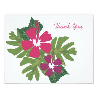 Hawaiian Hibiscus Pink Thank You Card