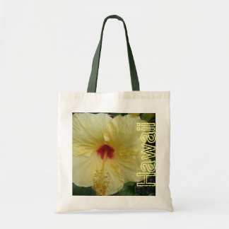 Hawaiian hibiscus reusable bag