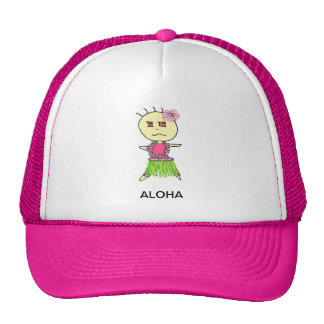 HAWAIIAN HULA GIRL HATS FOR WOMEN