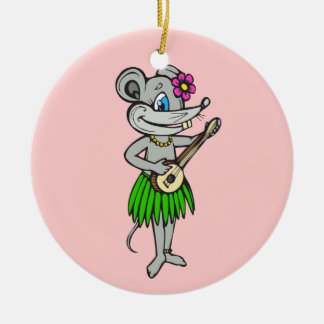 Hawaiian Hula Mouse Ornament