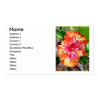 Hawaiian Hybrid Hibiscus Business Card Template
