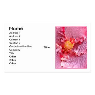 Hawaiian Hybrid Hibiscus Business Card Templates