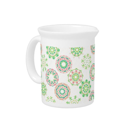 Hawaiian Ice Snow Tropical Hibiscus Gold Effect Pitcher