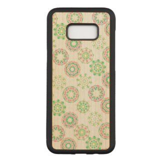 Hawaiian Ice Snow Tropical Pink Hibiscus Gold Foil Carved Samsung Galaxy S8+ Case