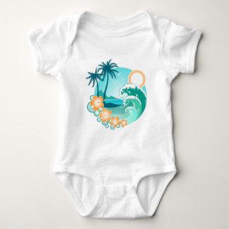 Hawaiian Island 1 Baby Bodysuit
