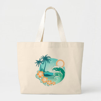 Hawaiian Island 1 Large Tote Bag