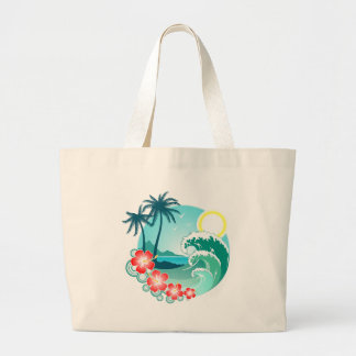 Hawaiian Island 2 Large Tote Bag