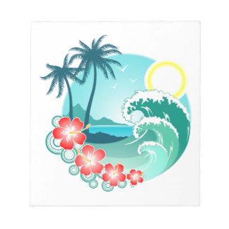 Hawaiian Island 2 Notepad