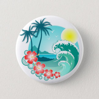 Hawaiian Island 3 6 Cm Round Badge