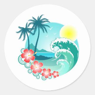 Hawaiian Island 3 Classic Round Sticker