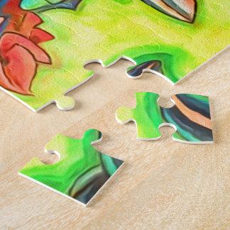 Hawaiian Island Honolulu Home Colorful Jigsaw Puzzle