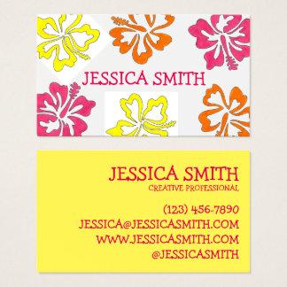 Hawaiian Island Tropical Hibiscus Flowers Floral Business Card