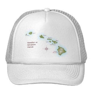 Hawaiian Islands Mesh Hats