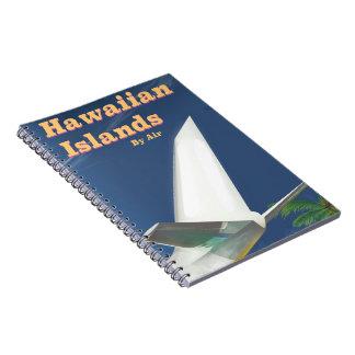 Hawaiian Islands commercial travel poster Notebook