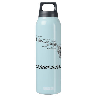 Hawaiian Islands Insulated Water Bottle