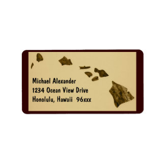 Hawaiian Islands Map Label