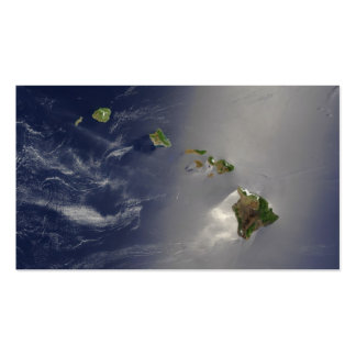 Hawaiian Islands Satellite View Pack Of Standard Business Cards