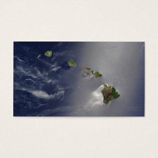 Hawaiian Islands Satellite View Business Card