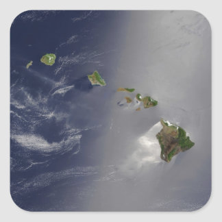 Hawaiian Islands Square Sticker