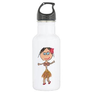 Hawaiian Lady in Grass Skirt 532 Ml Water Bottle