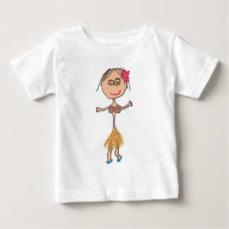 Hawaiian Lady in Grass Skirt Baby T-Shirt