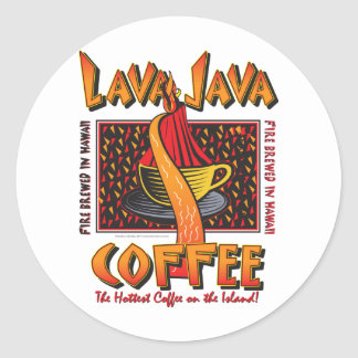 Hawaiian Lava Java Coffee Round Sticker