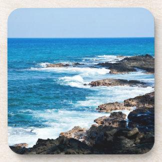 Hawaiian Lava Ocean Coast Line Hawaii Waves Coaster