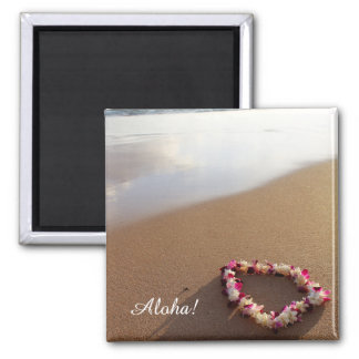 Hawaiian Lei Beach Magnet