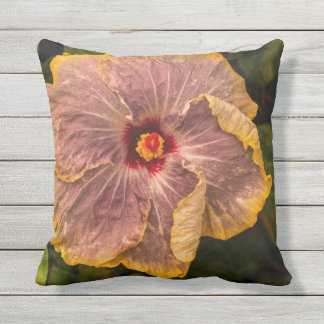 Hawaiian Lilac Hibiscus from Kauai Outdoor Outdoor Cushion