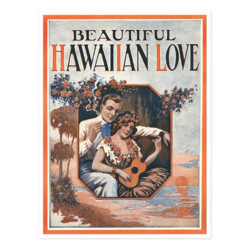 Hawaiian Love Postcard