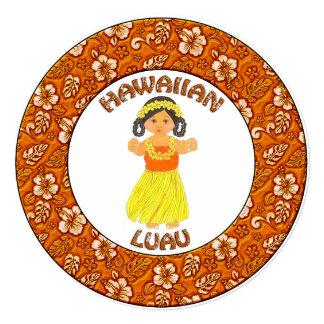Hawaiian Luau Girl Invitation Card