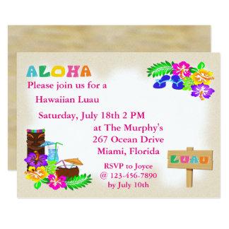 Hawaiian Luau Invitations