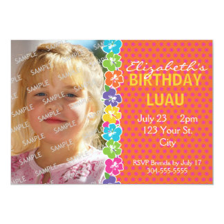 Hawaiian Luau Party 13 Cm X 18 Cm Invitation Card