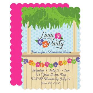 Hawaiian Luau Party Card