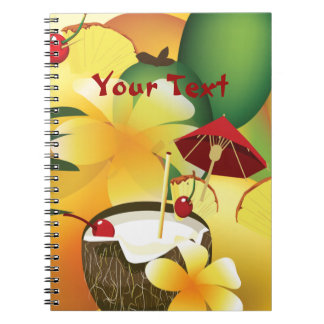 Hawaiian Luau Party Drink Tiki Bar Notebook