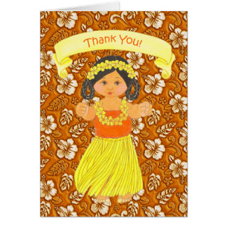 Hawaiian Luau Party Thank You Cards