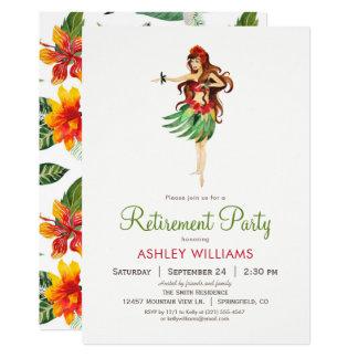 Hawaiian Luau Retirement Party Invitation