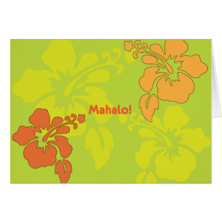 Hawaiian Luau Thank You Note Cards