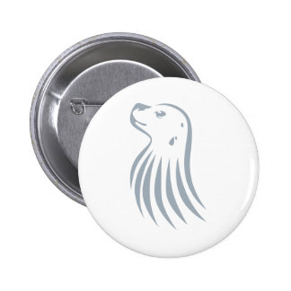 Hawaiian Monk Seal in Swish Drawing Style Buttons