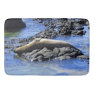 Hawaiian Monk Seal Sunbathing Bath Mat