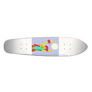 Hawaiian Moonlight Hula Ride 18.1 Cm Old School Skateboard Deck