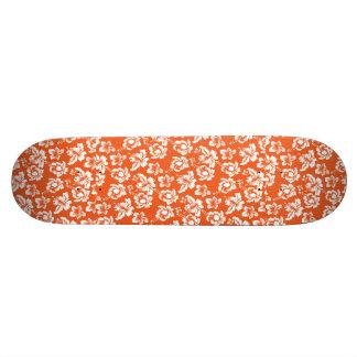 Hawaiian Orange Flower Skate Board