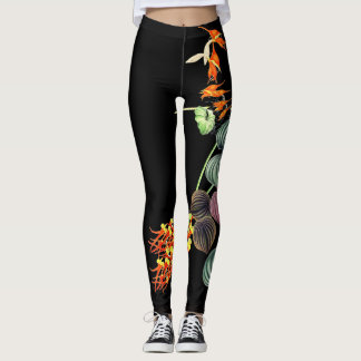 Hawaiian Orchid Flowers All Over Print Leggings