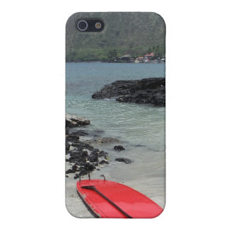 Hawaiian paddleboard beach scene iphone case iPhone 5 covers