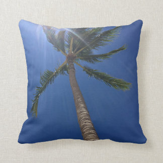 Hawaiian Palm Cotton Throw Pillow