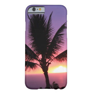 Hawaiian Palm Tree & Colorful Sunset Barely There iPhone 6 Case