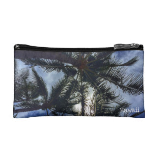 Hawaiian Palm Tree Cosmetic Bag