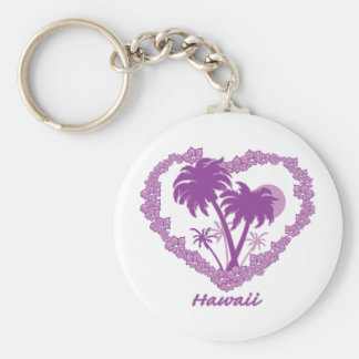 Hawaiian Palm Tree Heart Keychains