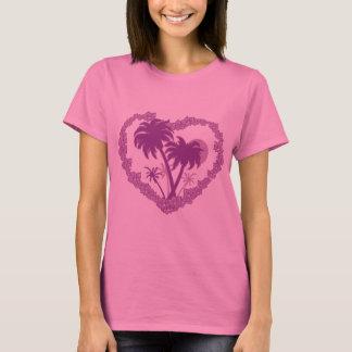 Hawaiian Palm Tree Heart T-Shirt
