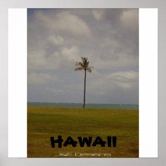 Hawaiian Palm Tree Poster
